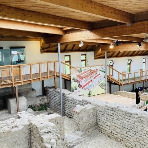 Die Römervilla in Grenzach. Vergrösserte Ansicht