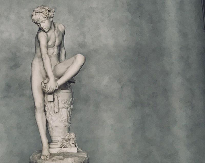 Foto einer Statue